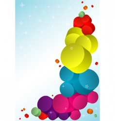 colourful template vector image