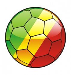 Congo flag on soccer ball vector