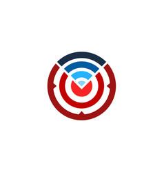 Connection target logo icon design vector