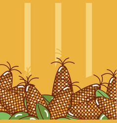 Corns over colorful background vector