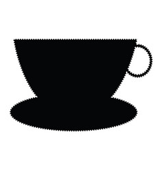 Cup and dish silhouette vector