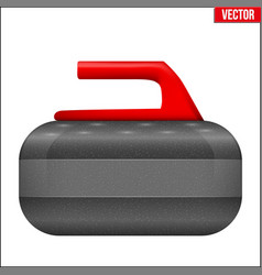 curling stone equipment vector image