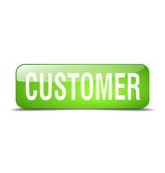 customer green square 3d realistic isolated web vector image