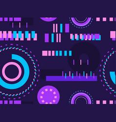 Cyberpunk seamless pattern retro futurism the vector