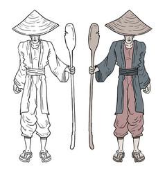 Design of japanese man vector