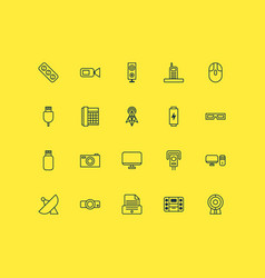 Device icons set collection of extension cord vector