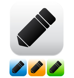 different color pencil icons vector image