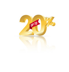 Discount up to 20 template design vector