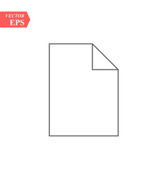 document icon flat isolated vector image