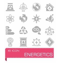 Energetics icon set vector