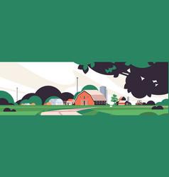 farm building house organic eco farming vector image