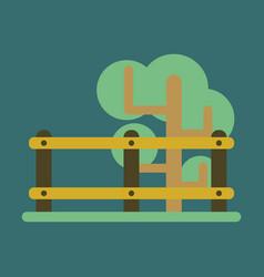 Flat icon fenced tree vector