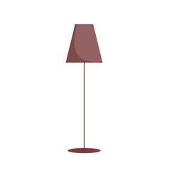 floor lamp decoration isolated icon on white vector image
