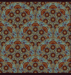 Floral seamless pattern background in arabian vector