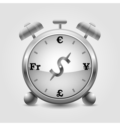 forex clock vector image