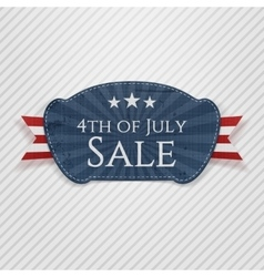 Fourth of July Sale Tag vector image