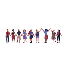 Friends characters people standing together and vector