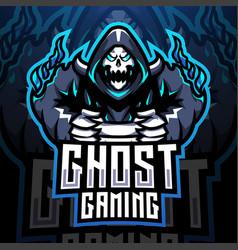 ghost gaming esport mascot logo design vector image