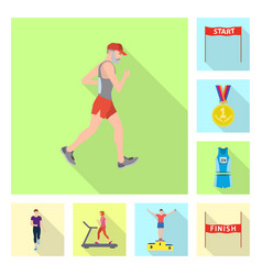 isolated object of sport and winner icon set of vector image