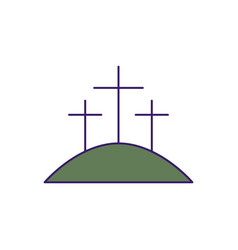 Isolated three crosses fill design vector