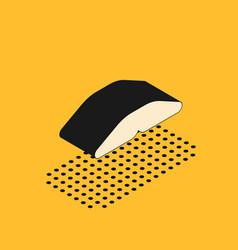 Isometric homemade pie icon isolated on yellow vector