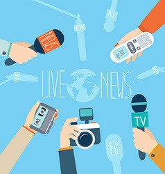 Journalism concept Live News vector image