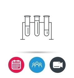 Laboratory bulbs icon Chemistry sign vector
