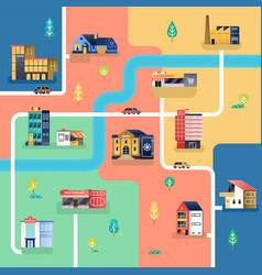 Map city vector
