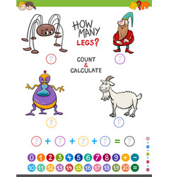 maths activity for kids vector image