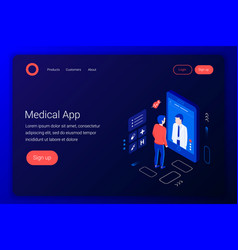 Medical consultation vector
