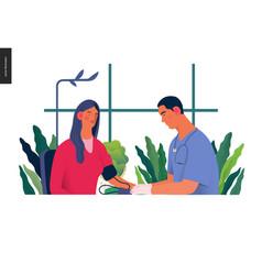 Medical tests - blood pressure test vector