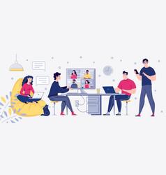 Men and women self employed concept vector
