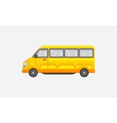 Minibus side view vector image