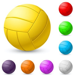 Multicolored volleyball realiste on white vector