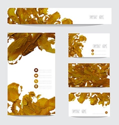 Oil painted business cards vector image vector image