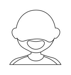 old man face cartoon vector image