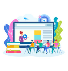 online webinar colloquium team work concept vector image