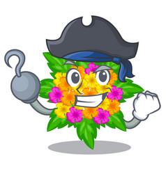 Pirate lantana flowers in the mascot pots vector