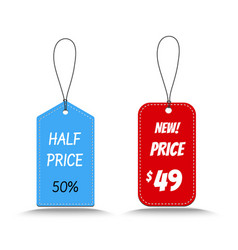 price tag for sale vector image