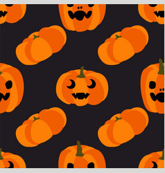 pumpkin with a mug seamless vector image