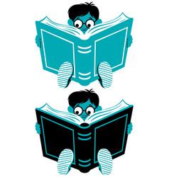 reading boy vector image