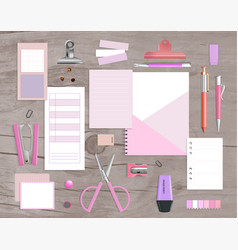 realistic office items vector image