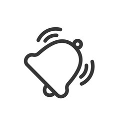 ringing bell line style isolated icon vector image