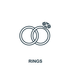 rings outline icon premium style design from vector image