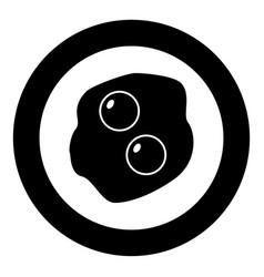 Scrambled eggs icon black color in circle vector