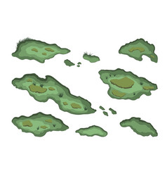 set swamps in isometric style vector image