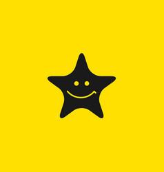 Star smile template design vector