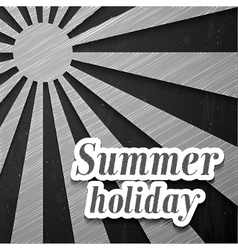 Summer chalkboard background vector image