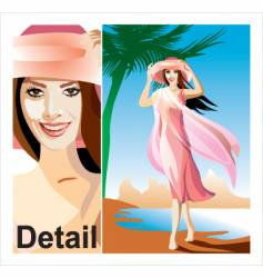 the girl on a beach vector image