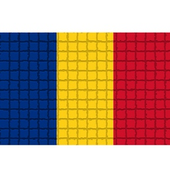 The mosaic flag of Romania vector